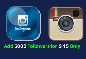 Add 5000 Non Drop Instagram Followers for $15 only.
