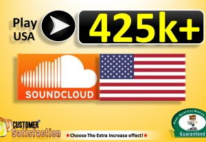 4,25,000+ USA SOUNDCLOUD Play in Your Track and 300 LIkes Top Quality, All are USA CIty, Non Drop Guaranteed