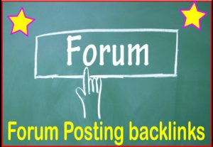 GET 2000 Forum Posting Backlinks