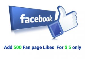 Add 500 Non Drop Facebook Fan Page Likes for $5 only.