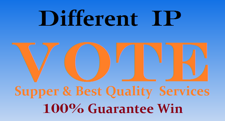 Provide 100 Different IP votes your online contest 100% safe