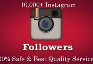 Give Best Quality 1000  Instagram real followers & permanent