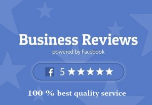 Give 100 Facebook five star rating and review on your business fan page