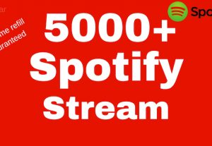 5000+ spotify stream with lifetime guaranteed