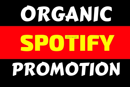 get organic 1000+ spotify stream or permanent followers music