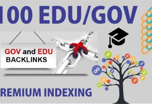 Provide you 100 EDU/GOV permanent Backlinks