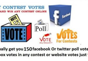 I will 150 facebook vote Or twitter votes in any contest votes