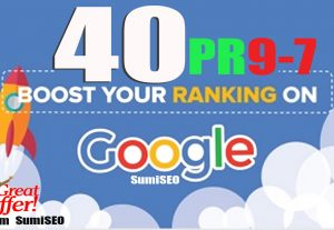 Site Ranking with 40 PR9 to 7 High Quality Profile backlinks from Authority Domins