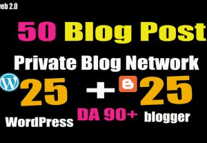 50 Solid contexual PBN links from DA90+ blogs