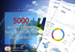send 5000 quality country targeted traffic to your website in 30 days