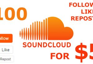 Get instant 100 Followers + 100 Likes + 100 Reposts to your SoundCloud.