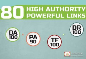 We give you 80 HIGH AUTHORITY Powerful Links