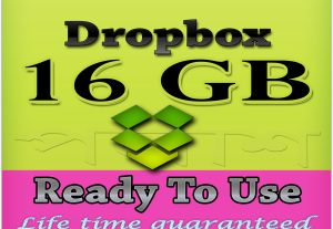 Provide pre upgraded 16gb dropbox account (ready to use)