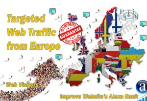 European web visitors real targeted Organic web traffic from Europe