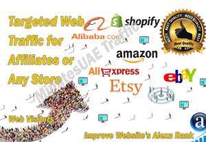 High-quality web traffic for Affiliates, Amazon, eBay, Alibaba, AliExpress, Etsy or Shopify Store
