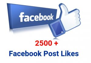 I will provide You 2500+ Facebook Post likes.