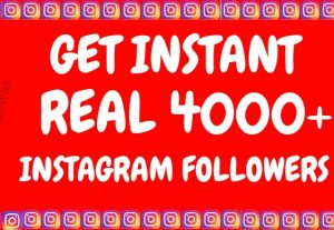 Get Instant 4000+ Permanent Instagram Followers at only 7 usd