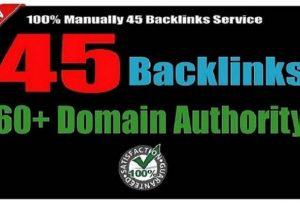 45 Backlinks from High DA-80+ Domains-Skyrocket your Google Ranking
