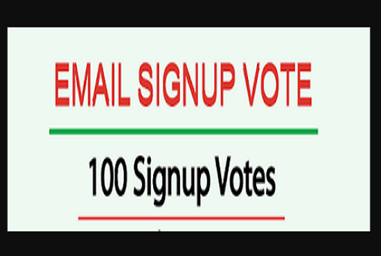 100 signup or registration with email confirmation votes, captcha, different ips
