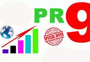 Send 15 Pr9 Domains With High Trust And 80+DA Social Backlinks
