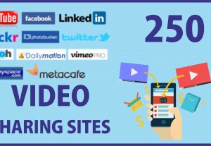 Get 250 video sharing website list