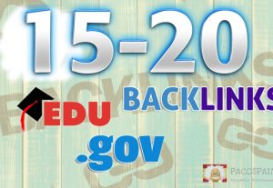 We manually build 15-20 .eds-.gov backlinks