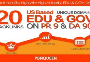 Manually Create Strong 20 EDU and GOV High DA Backlinks to Boost SEO