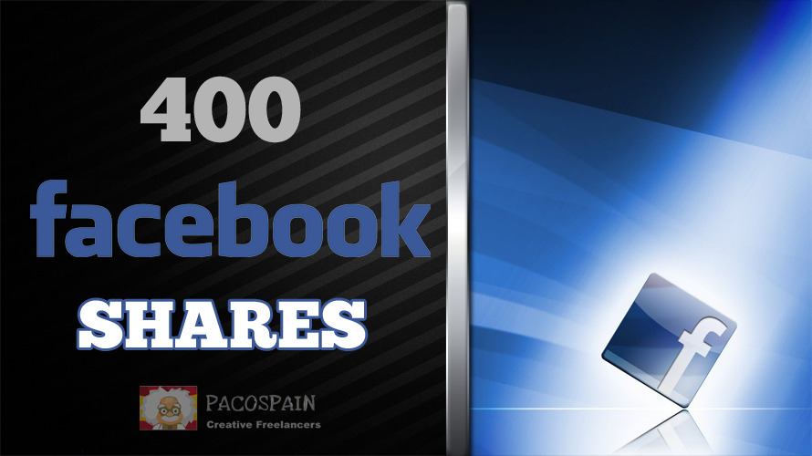 400 Facebook Websites or Posts shares