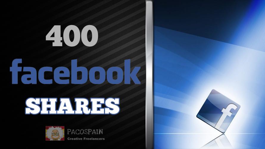 400 Facebook Websites or Posts shares