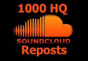 Get instant High Quality 1000+ Reposts on your Soundcloud.