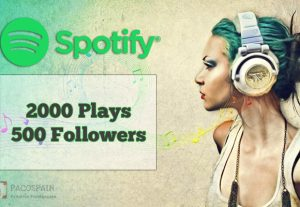 Get 500 Spotify followers & 2000 Spotify Plays