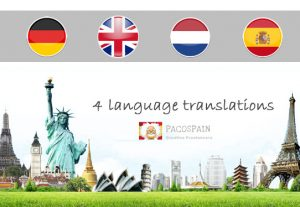 We translate from and to English, Dutch, Spanish or German
