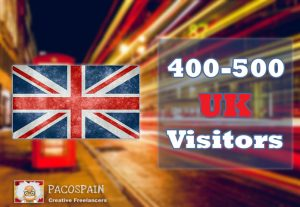 We send 400+ UK Targeted Visitors for 30 Days with low bounce rate