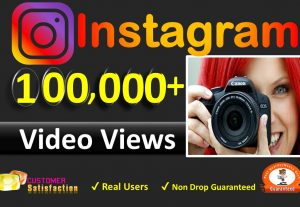 Get Instant (in 1 to 6 Hours) 100,000+ Instagram HQ Video views+Impretion+Reach OR 3K Posted Picture / Video Likes, Real & Active Users, Non Drop Guaranteed