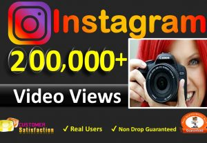 Get Instant 200,000+ Instagram Video views + Imperation + Reach in 24 Hours complete, Real & Active Users, Non Drop Guaranteed