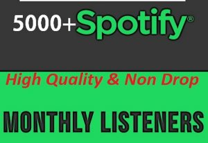 SUPER FAST- 5000+ USA Monthly Listeners For Your Spotify Track