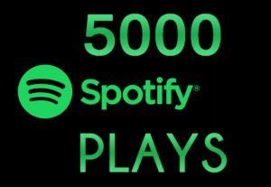 Instant ORGANIC 5000+ Spotify Plays, Real And HQ