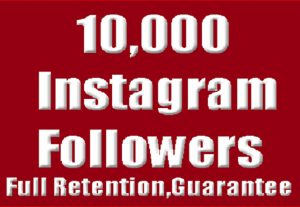Get instant 10,000 Instagram Followers High-Quality Guaranteed.