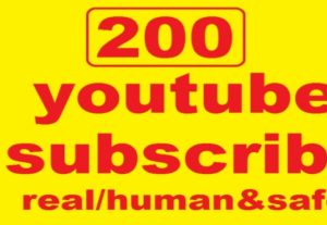 I will give you 200+ Youtube Subscribers