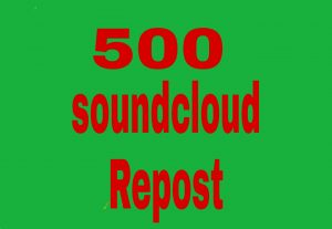 500 soundcloud  Repost fast delivery