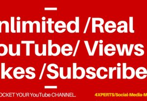 Get unlimited Real YouTube Views, Likes, Subscribers.
