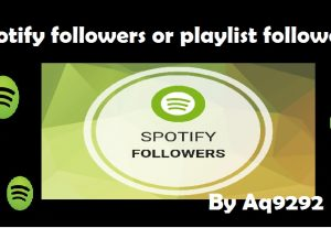 I will give 1000 (1K) spotify followers or playlist followers Non Drop