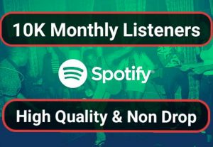 SUPER FAST- 10.000 USA High Quality Monthly Listeners For Your Artist Profile Promotion
