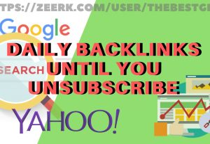 5 (DA30+ and PA20+) Links Daily Until You Unsubscribe