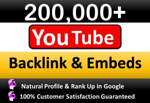 200,000+ GSA SER Verified Backlinks and Embeds for YouTube or any Social Video to get video ranking in Google