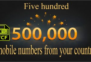 500/000 mobile numbers from your country