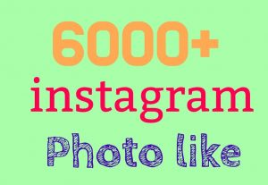 Exclusive offer 6000+Instagram post like or photo like[Read description]