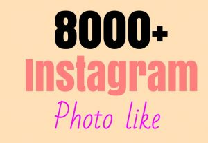 Super fast delivery 8000+Instagram post+photo like [Read description]