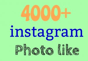 Get 4000+Instagram photo like+post like from real active profile [Read description]