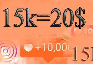15,000 Instagram like(15k) like you 15/000 people
